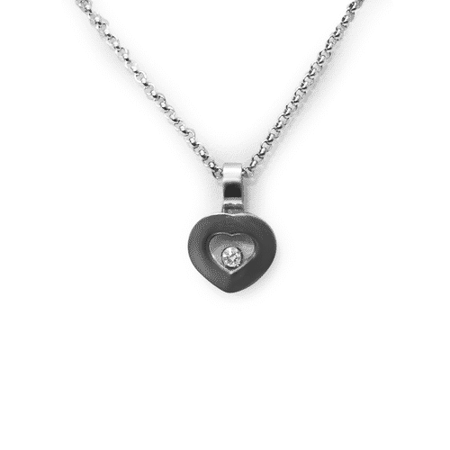 Chopard Happy Diamond Heart Diamonds 18K White Gold Necklace