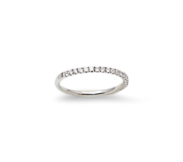 Half band diamond18K White Gold ring