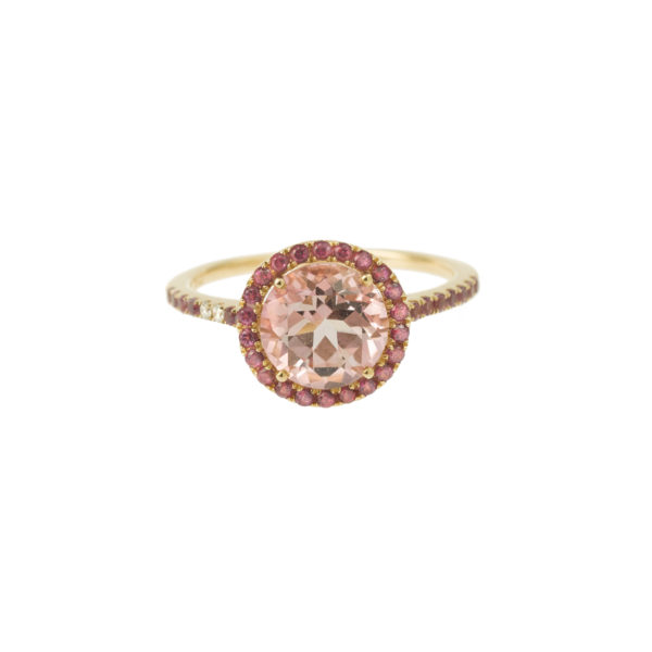 Bague amethyste saphir rose or jaune