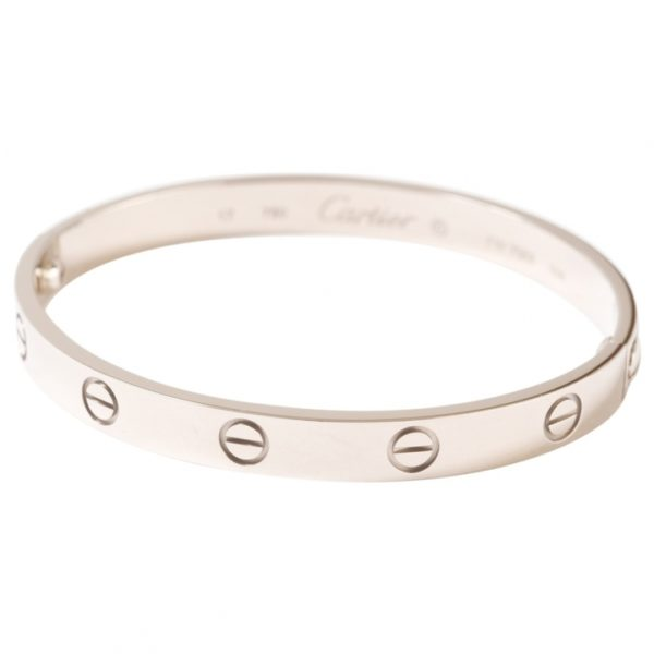 Cartier Love 18K White Gold Bangle Bracelet