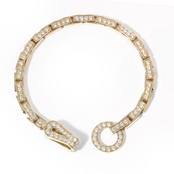 Cartier Bracelet Agrafe or jaune diamants