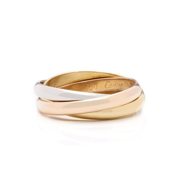 Cartier Tri Color Gold Trinity Medium size Ring 18 K Gold