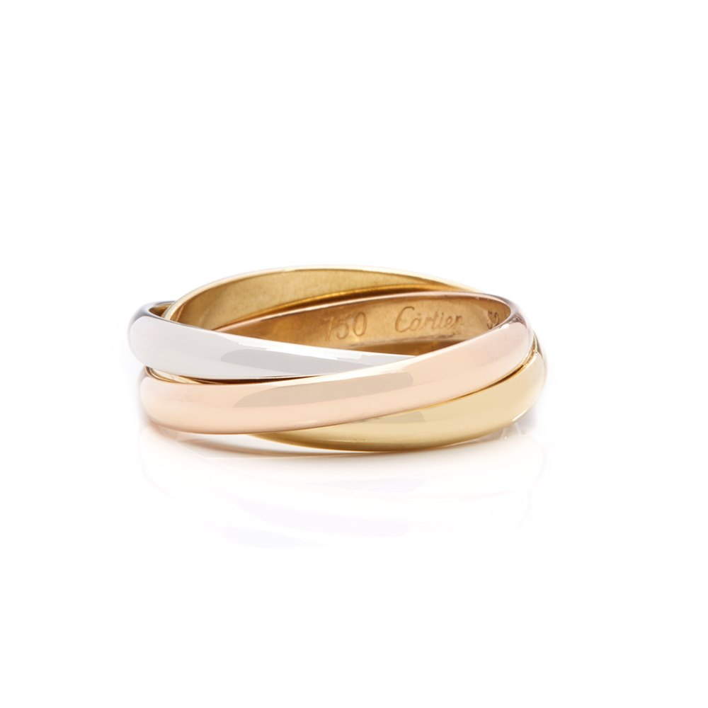 52092f7e72fa2 Cartier Tri Color Gold Trinity Medium size Ring 18 K Gold | Pierres ...