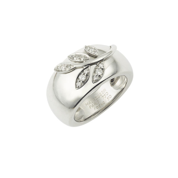 Bague Mauboussin Florale diamants Or gris (3)
