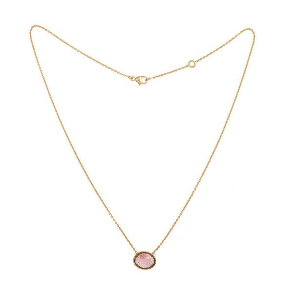 Collier tourmaline rose or jaune web (1)