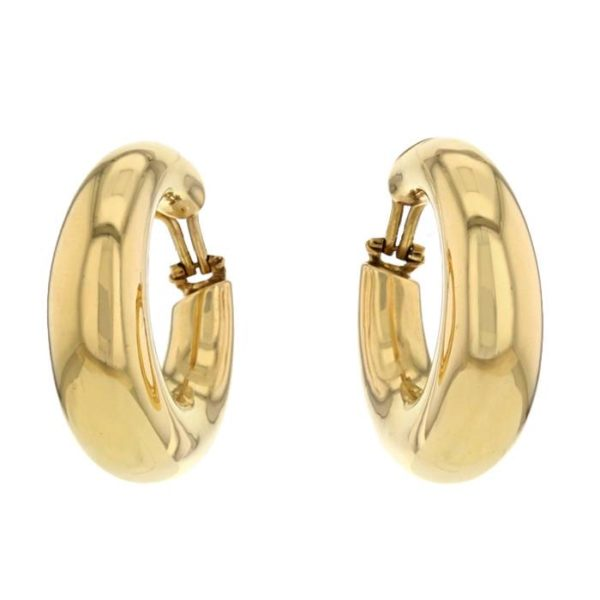 Chaumet 18 Carats Yellow Gold Earrings