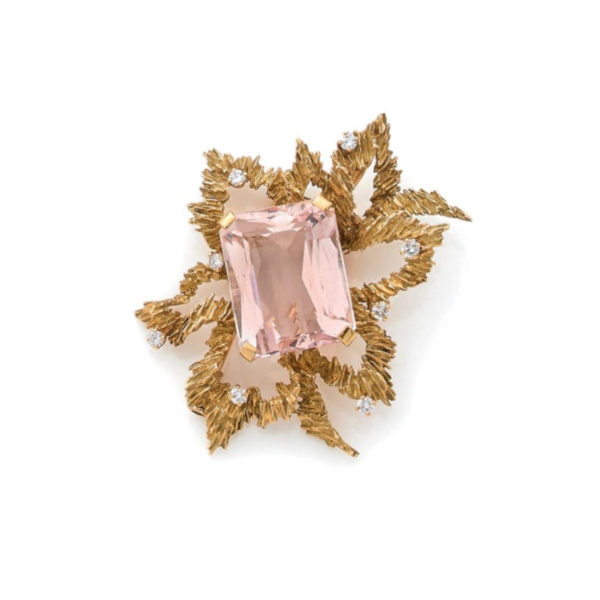 Broche Morganite