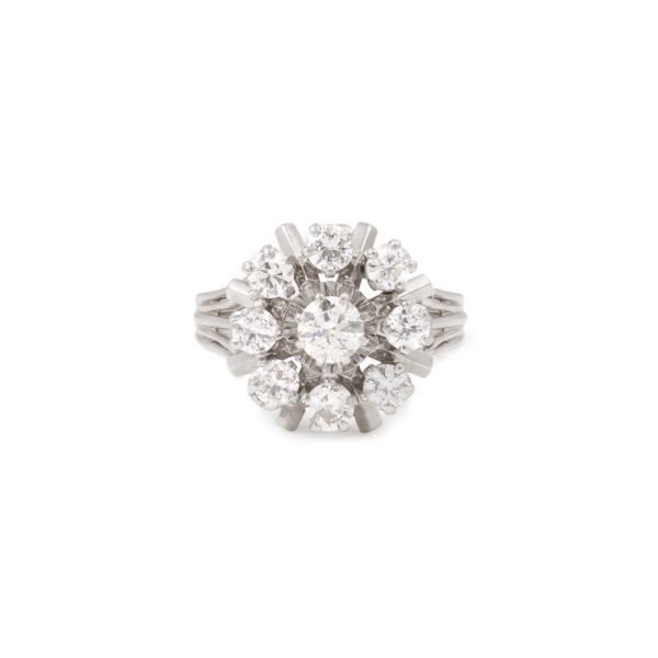 Bague Marguerite Vintage Diamants (6)