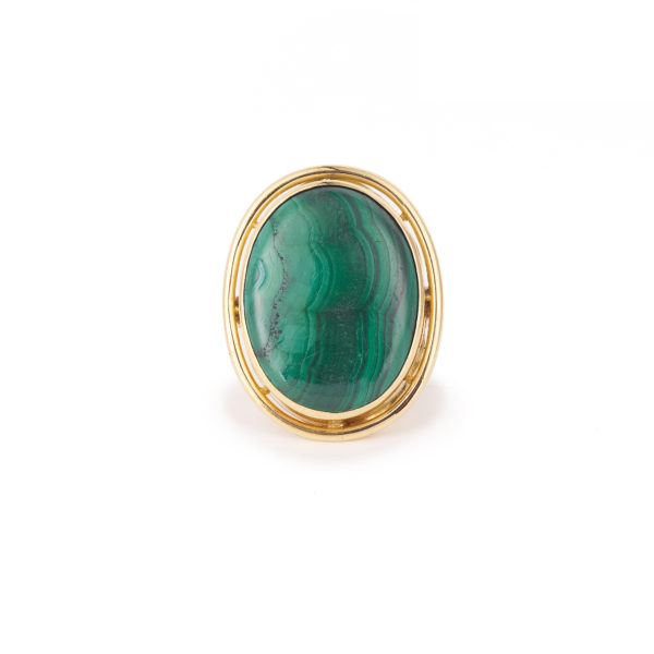 Bague Malachite Or jaune 18k (1)